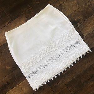 Bohemian High-Waisted Mini Skirt